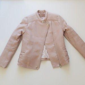 Zara double breasted biker / moto jacket